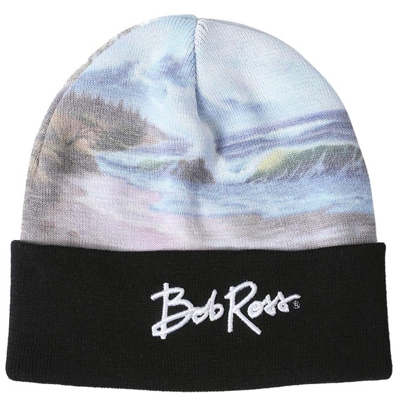 2f24fab2eef34 Bob Ross Landscape Painting Knit Beanie Hat